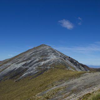 Wanderung Kepler Track - Great Walk, Wanderweg entlang Bergkamm im rauen Gelände, alpin oberhalb Baumgrenze, herrliche Aussicht