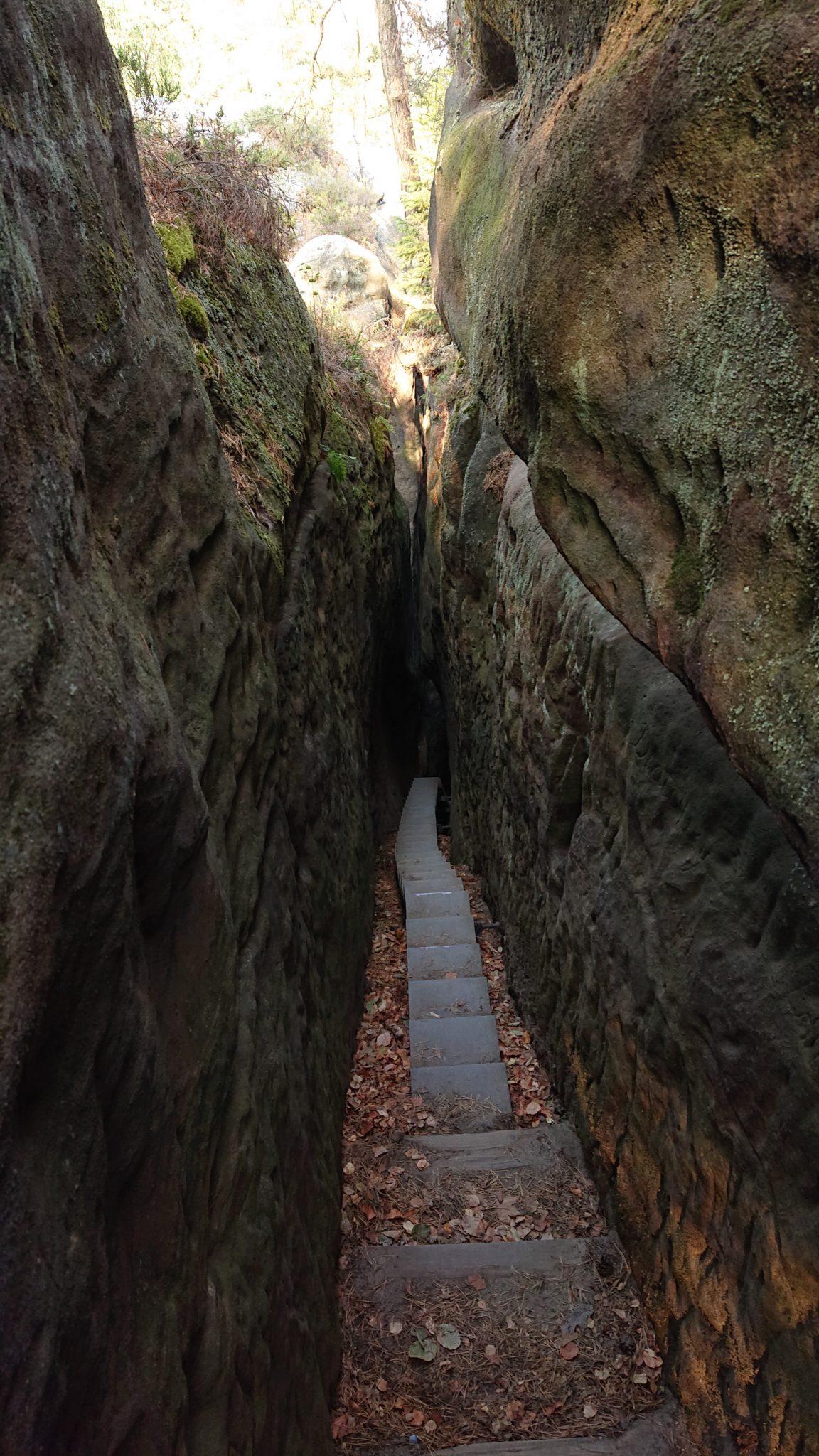 Wanderung zum Kuhstall im Kirnitzschtal, vom Kuhstall Möglichkeit über schmale Himmelsleiter weiter zu wandern und weitere schöne Aussichten