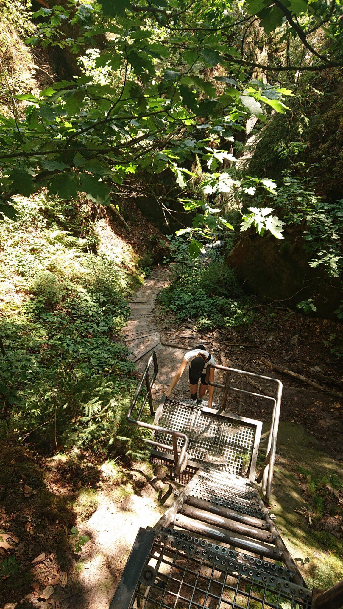 Hohe Liebe Schrammsteine Carolafelsen, Wanderweg im Wanderparadies Sächsische Schweiz mit vielen tollen Aussichten, riesiger Felsennationalpark, einige Höhenmeter über Metalltreppen überwinden macht Spaß und ist sehr abwechslungsreich