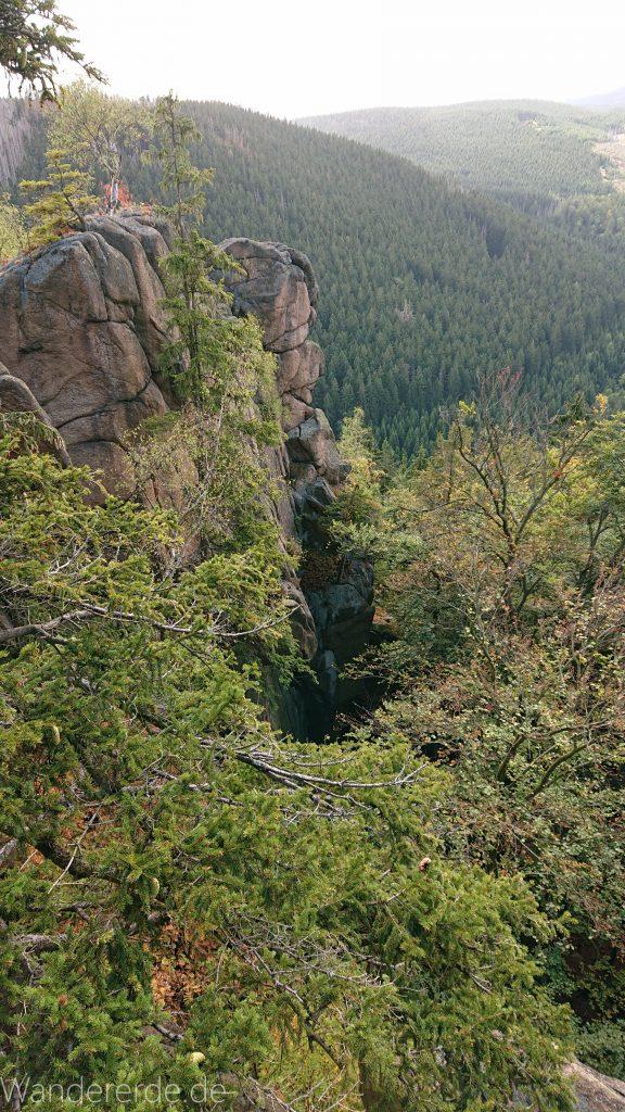 Von Bad Harzburg zur Rabenklippe und durchs Eckertal, Wanderung im Harz in Niedersachsen, Aussicht von der Rabenklippe