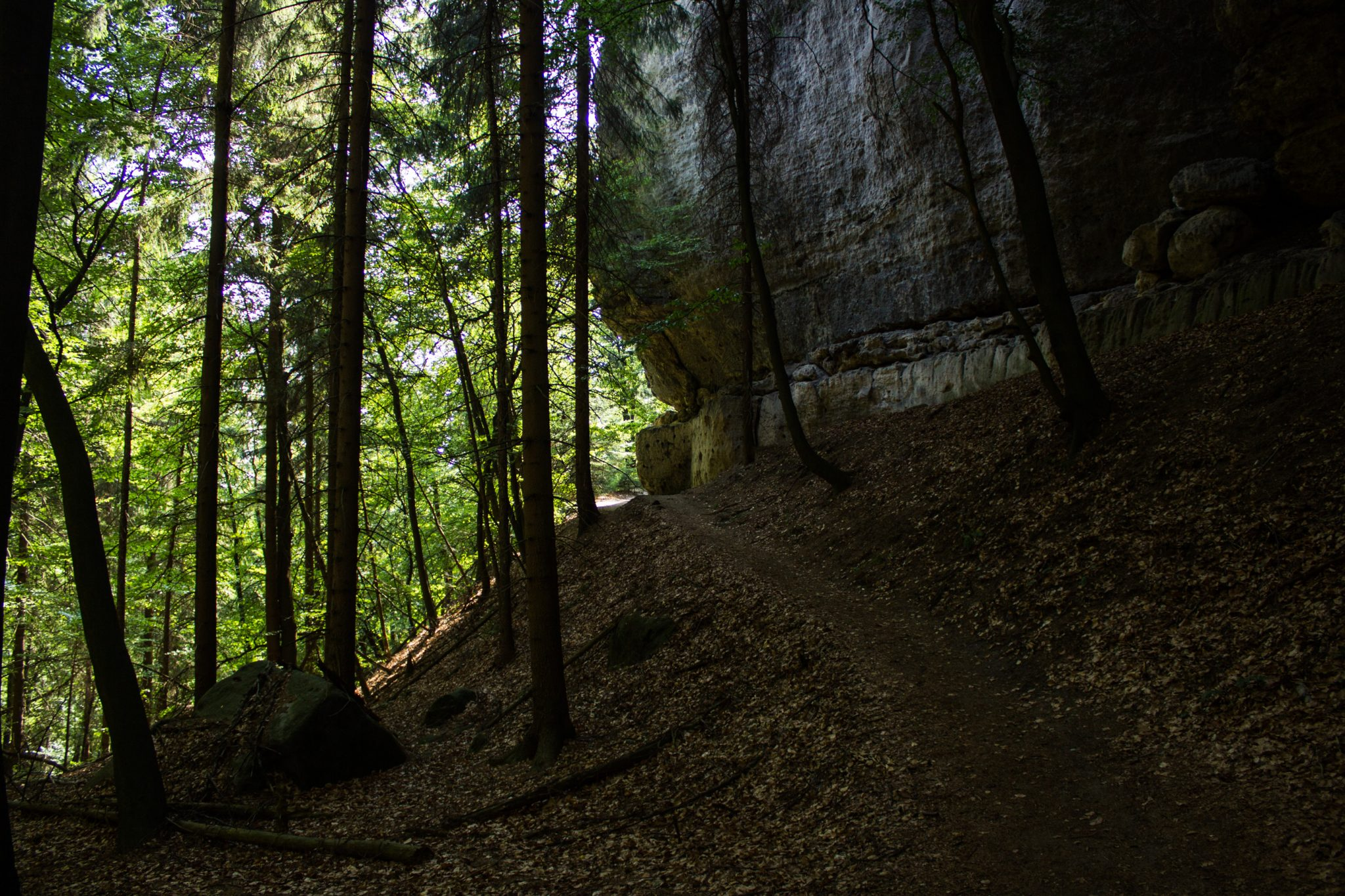 Zeughaus Roß- und Goldsteig Richterschlüchte im Kirnitzschtal wandern, Wanderweg im Wanderparadies Sächsische Schweiz mit vielen tollen Aussichten, riesiger Felsennationalpark, Weg direkt an den Felsen entlang