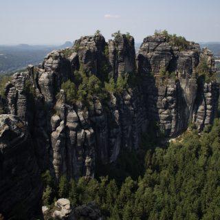 Hohe Liebe Schrammsteine Carolafelsen, Wanderweg im Wanderparadies Sächsische Schweiz mit vielen tollen Aussichten, riesiger Felsennationalpark