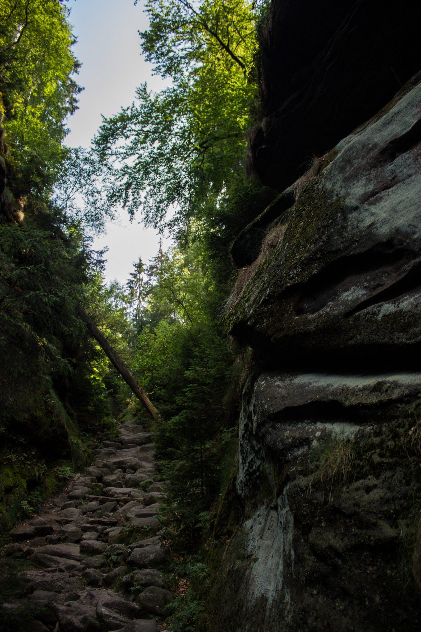 Hohe Liebe Schrammsteine Carolafelsen, Wanderweg im Wanderparadies Sächsische Schweiz mit vielen tollen Aussichten, riesiger Felsennationalpark, felsige naturbelassene Pfade