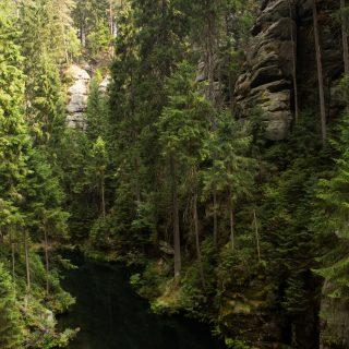 Kirnitzschklamm Hermanseck und Königsplatz im Kirnitzschtal wandern, Aussicht auf die Kirnitschklamm, saftig und grüne Landschaft, Wanderweg im Wanderparadies Sächsische Schweiz mit vielen tollen Aussichten, riesiger Felsennationalpark